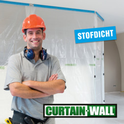 Stofdicht bouwen en renoveren: Curtain-Wall en PrimaCover Zipper Door